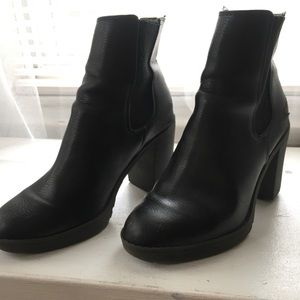 H&M Black Heeled Booties